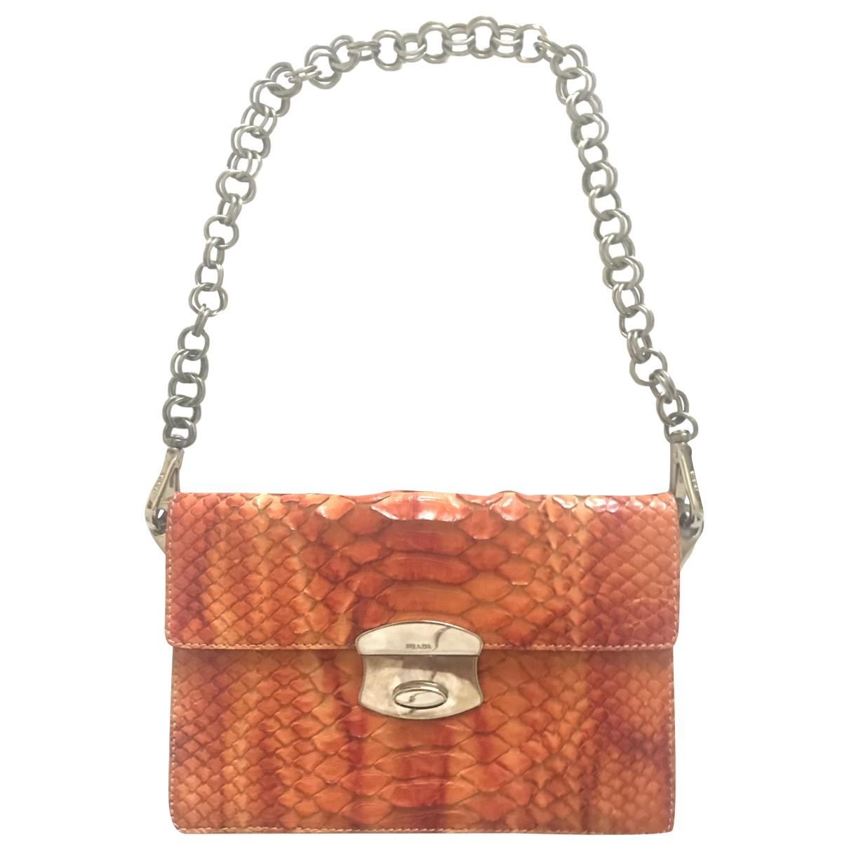 Prada \N Orange Lizard handbag for Women \N