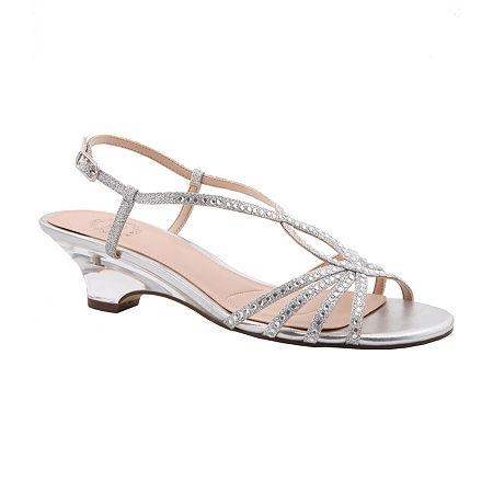 I. Miller Womens Felipa Wedge Sandals, 5 Medium, Silver