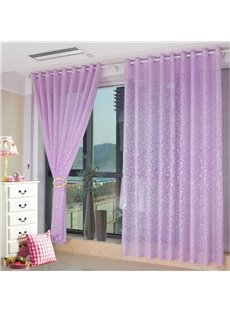 Decoration Polyester Light Purple with Classical Damask Printing Princess Style Custom Sheer Curtain