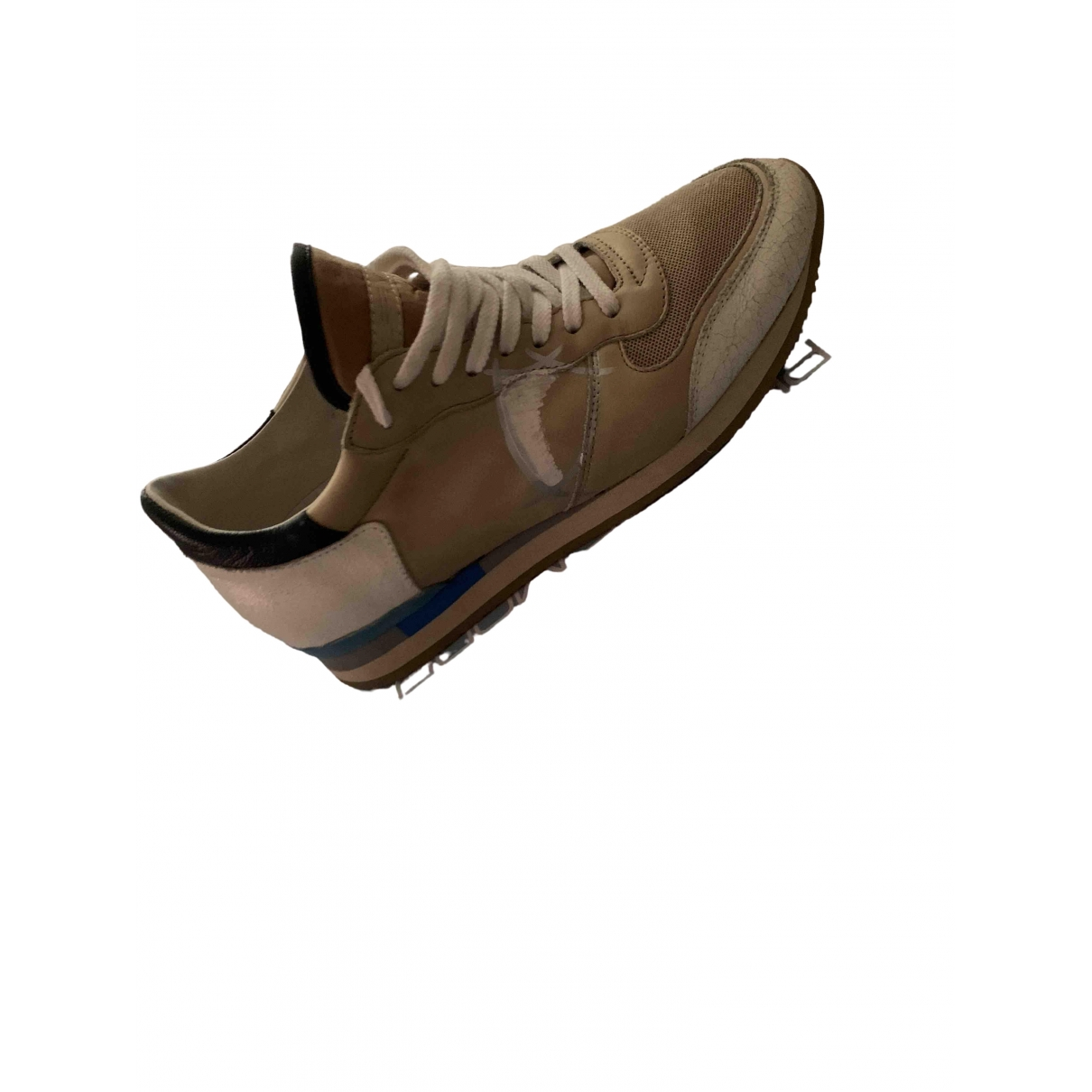 Philippe Model \N Beige Leather Trainers for Women 38 EU