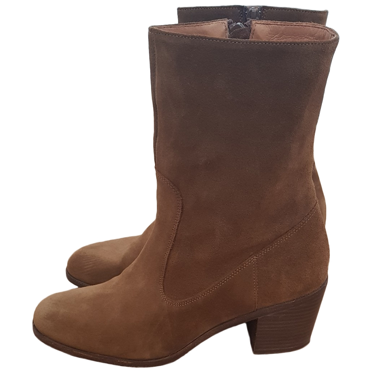Sessun \N Beige Suede Ankle boots for Women 40 EU