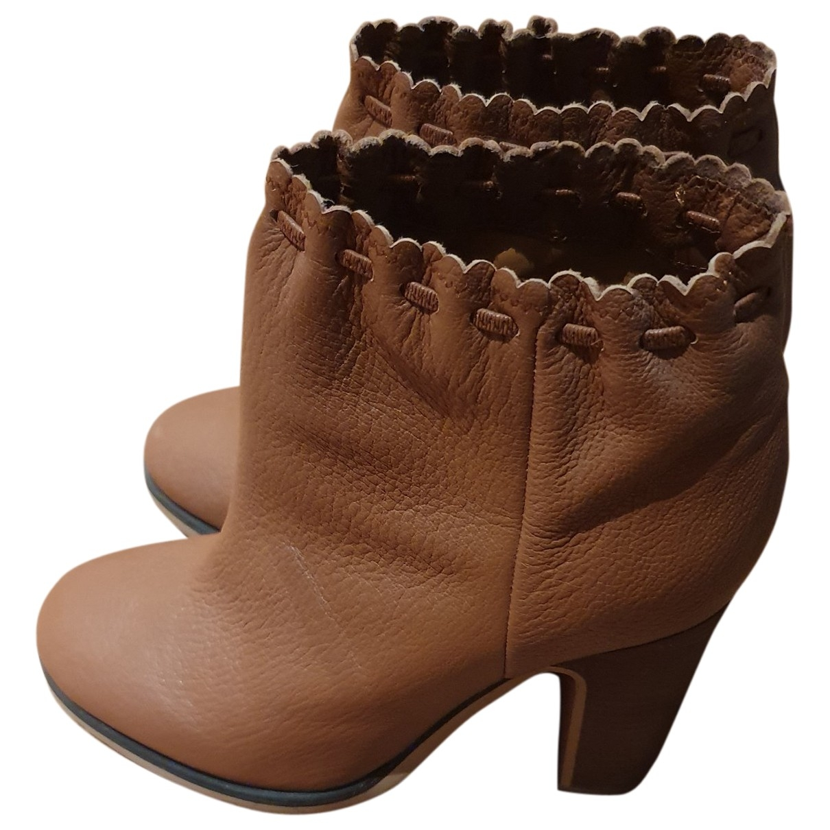See By Chloé \N Brown Leather Ankle boots for Women 39 EU