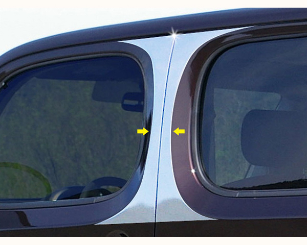 Quality Automotive Accessories 4-Piece Pillar Post Trim Kit Nissan Cube 2013