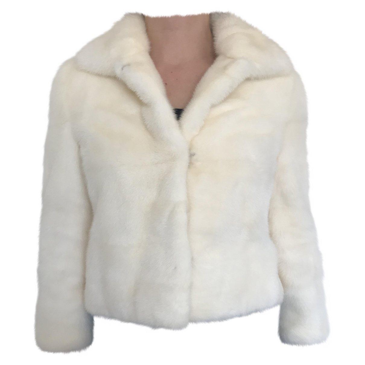 Fendi \N White Mink coat for Women 38 FR