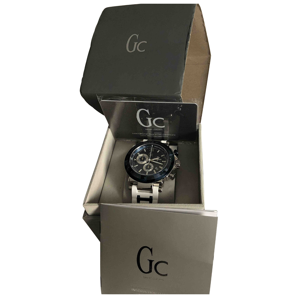 Non Signé / Unsigned \N White Steel watch for Men \N