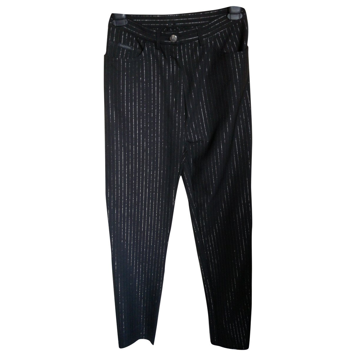 Valentino Garavani \N Black Trousers for Women 44 IT