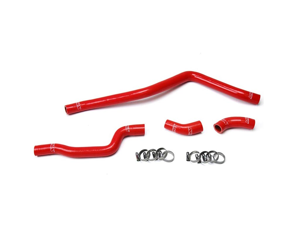 HPS Red Reinforced Silicone Radiator Hose 4pcs Complete Kit for Yamaha 01-05 YFM660 Raptor