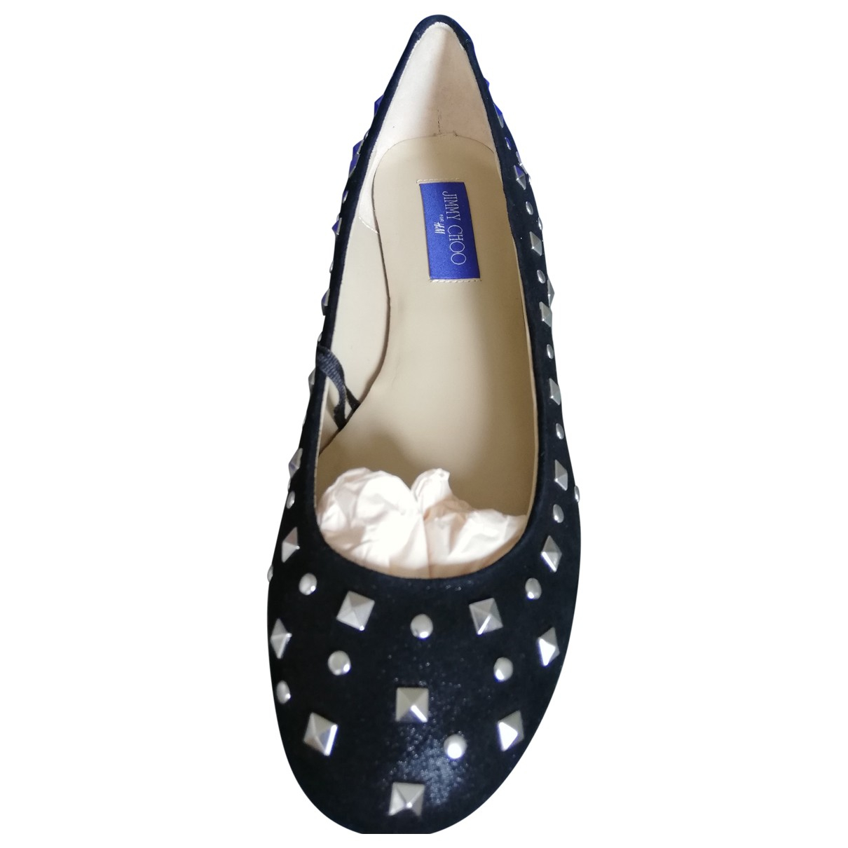 Jimmy Choo For H&m \N Black Leather Flats for Women 40 EU