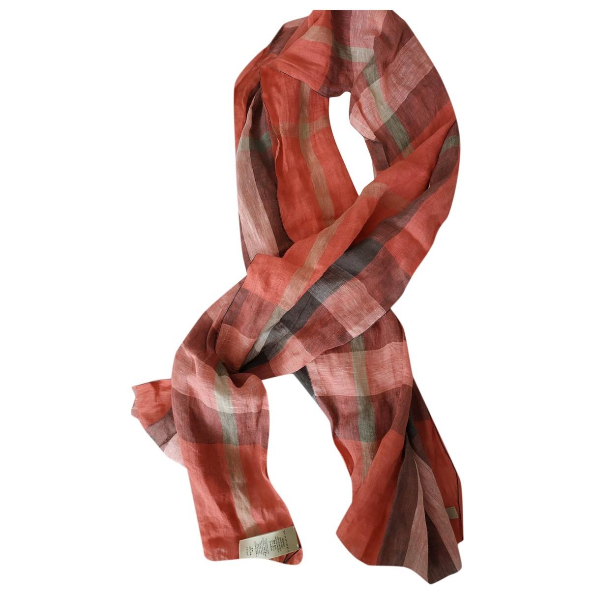 Burberry \N Multicolour Linen scarf for Women \N