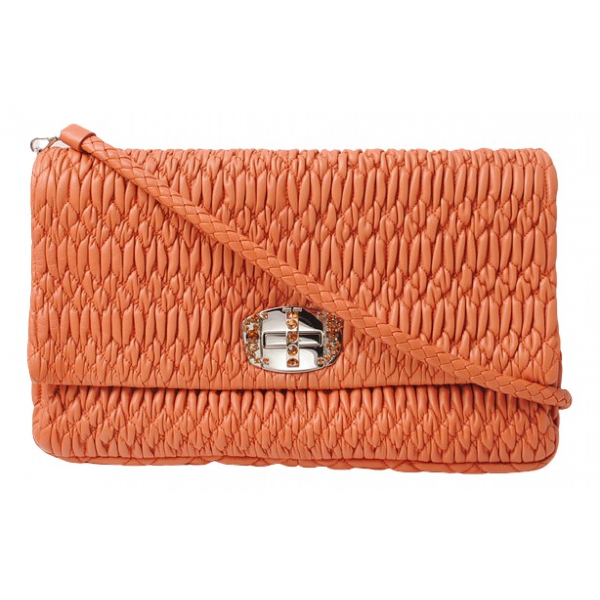 Miu Miu \N Orange Leather handbag for Women \N