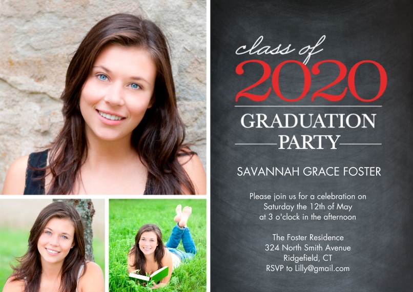 2020 Graduation Invitations 5x7 Cards, Premium Cardstock 120lb, Card & Stationery -Graduation 2020 Party by Tumbalina