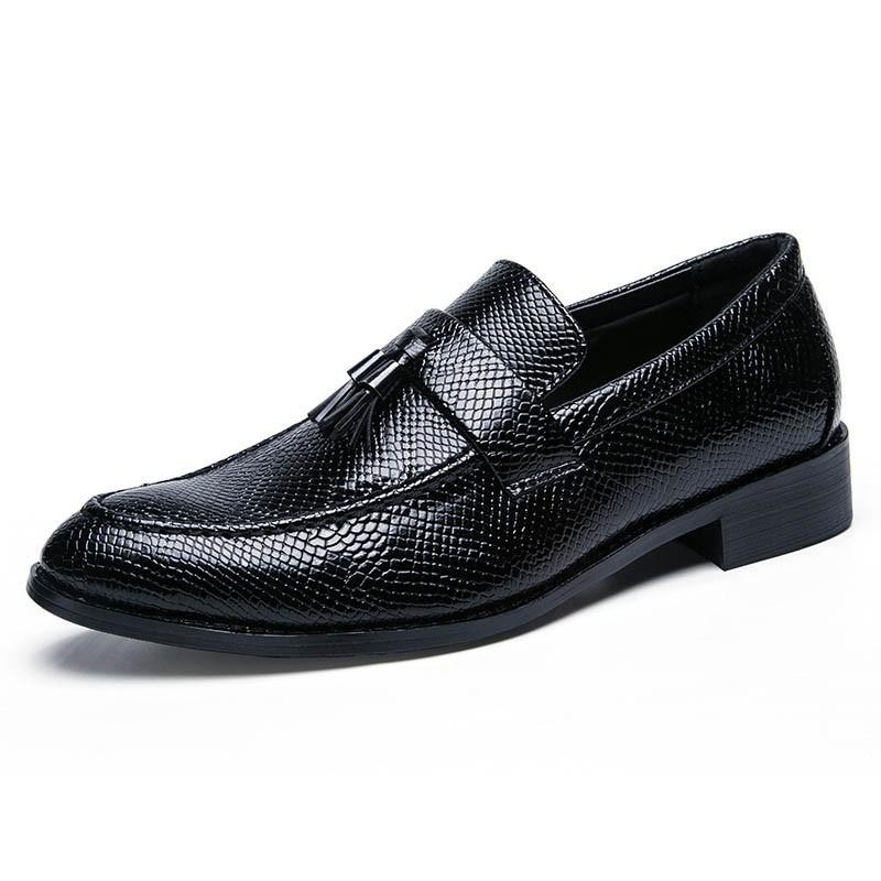 Ericdress PU Fringe Slip-On Round Toe Men's Oxfords