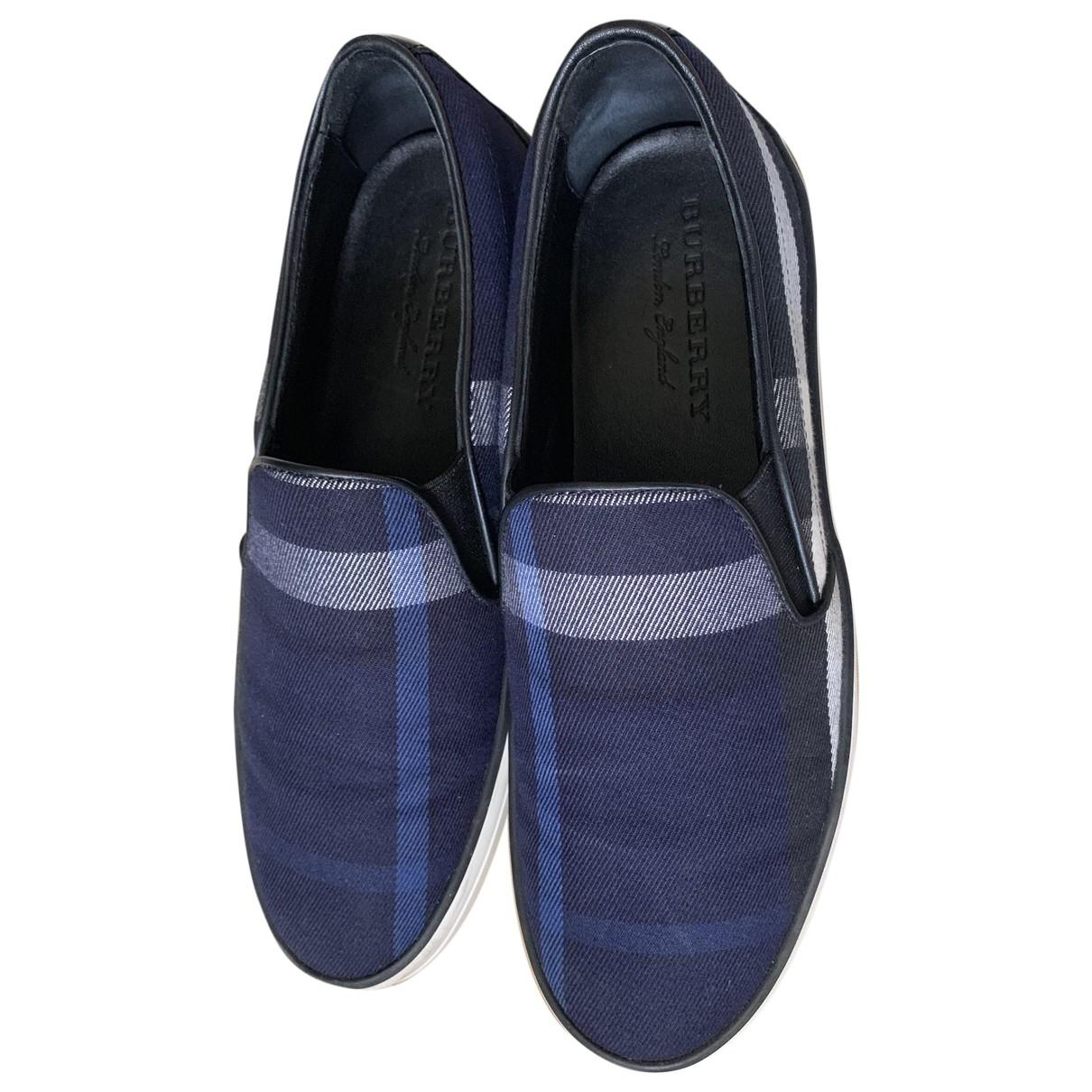 Burberry \N Blue Cloth Trainers for Women 39 EU