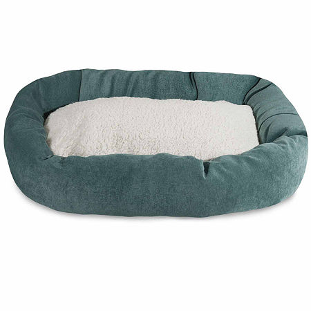 Majestic Pet Villa Collection Sherpa Bagel Pet Bed, One Size , Blue