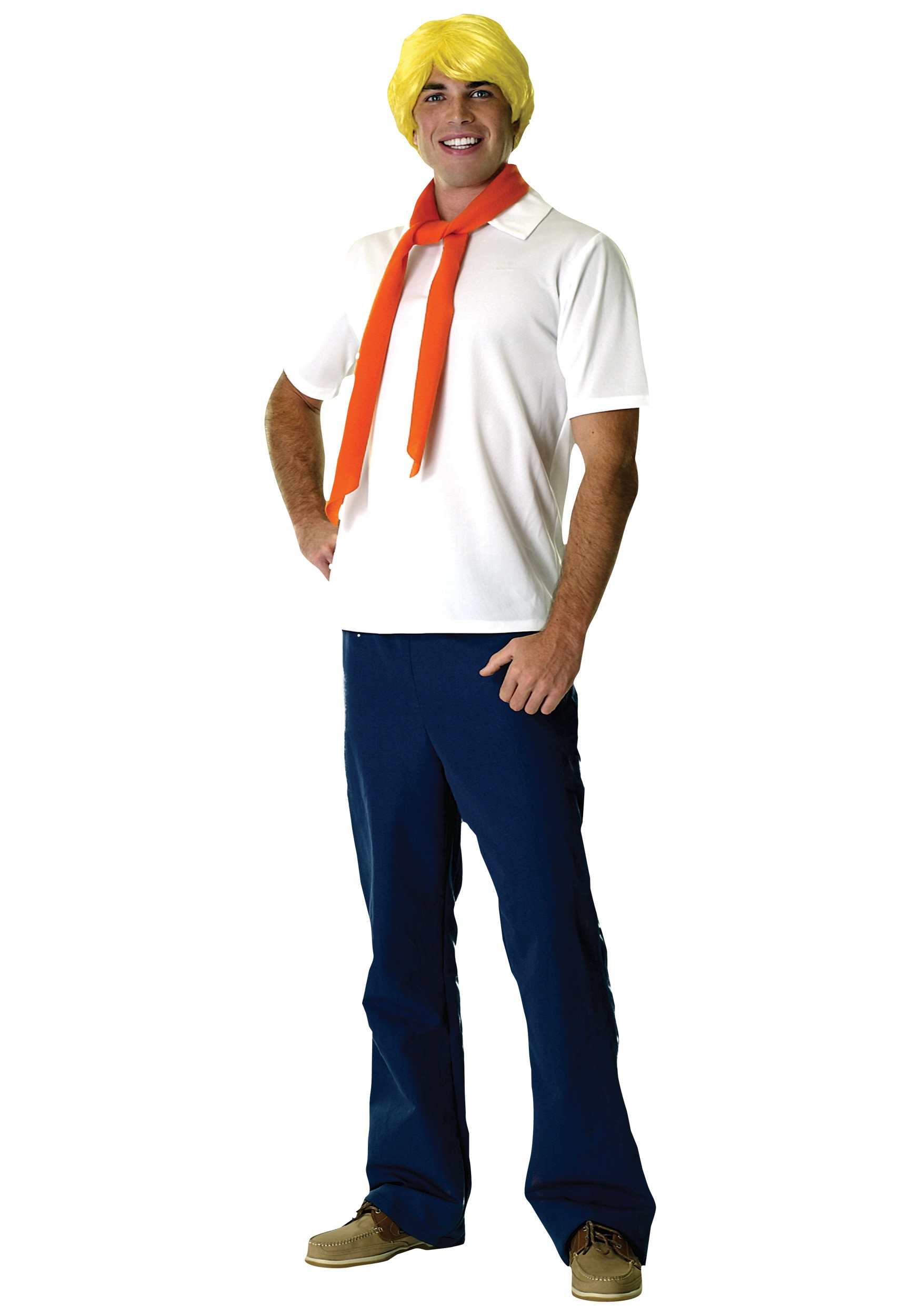 Adult Fred Costume - Adult Scooby Doo Fred Costume