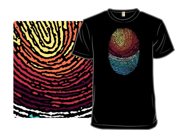Fingerprint Sunset T Shirt