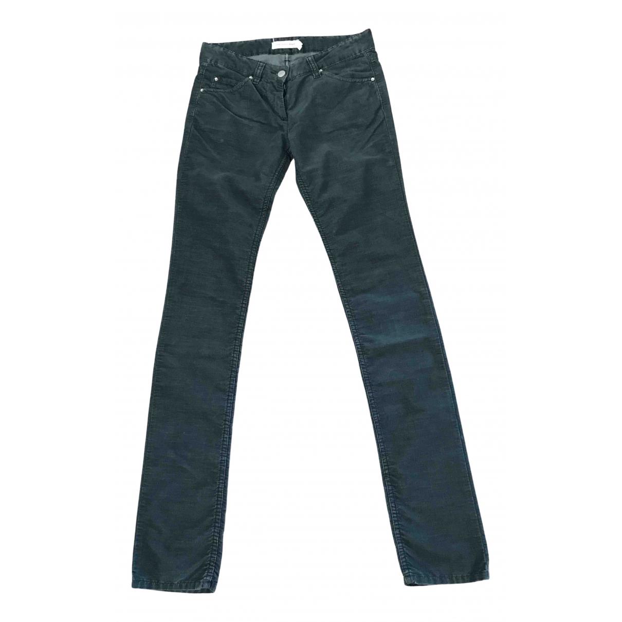 Isabel Marant Etoile \N Blue Velvet Trousers for Women 36 FR