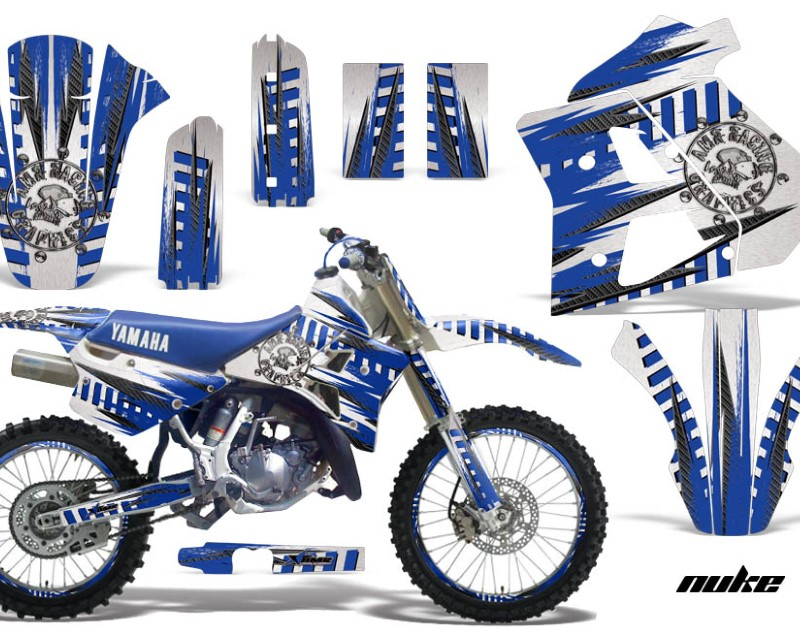 AMR Racing Graphics MX-NP-YAM-WR250Z-91-93-NK U W Kit Decal Sticker Wrap + # Plates For Yamaha WR250Z 1991-1993 NUKE BLUE WHITE