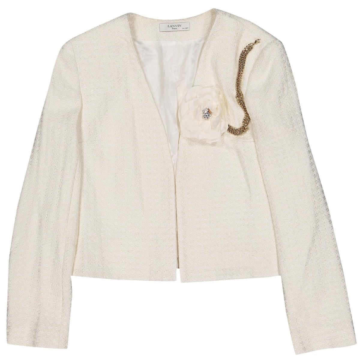 Lanvin \N Ecru jacket for Women 36 FR