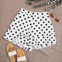 Plus Polka Dot Print Shorts