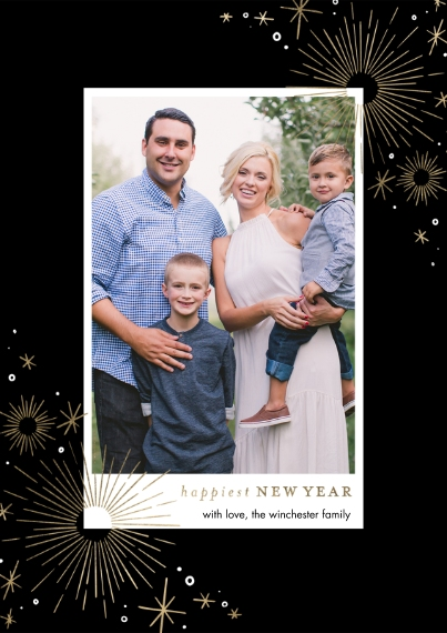 New Year's Photo Cards 5x7 Cards, Premium Cardstock 120lb, Card & Stationery -2021 New Year Sparkling by Tumbalina