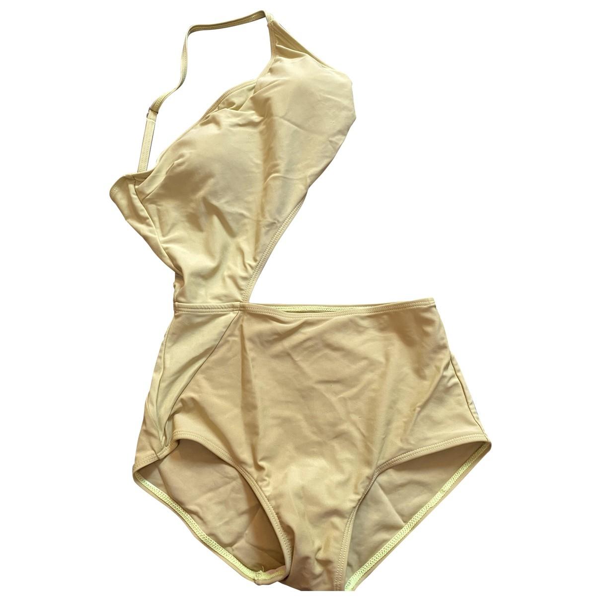 Non Sign?? / Unsigned \N Yellow Cotton - elasthane Swimwear for Women M International