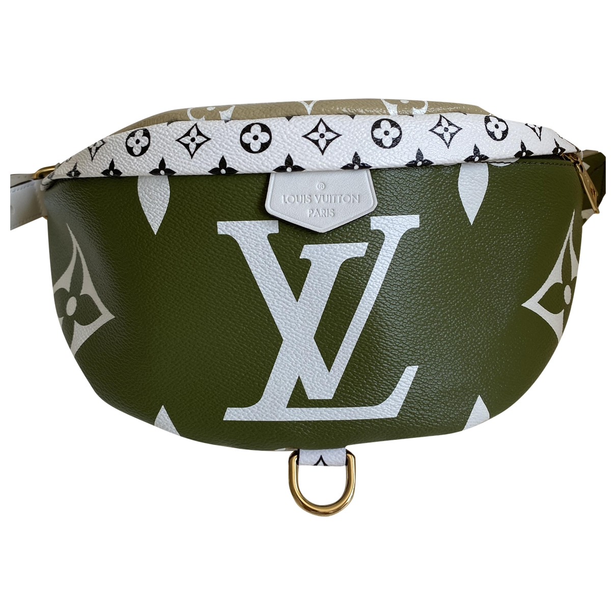 Louis Vuitton Bum Bag / Sac Ceinture Green Cloth Clutch bag for Women \N