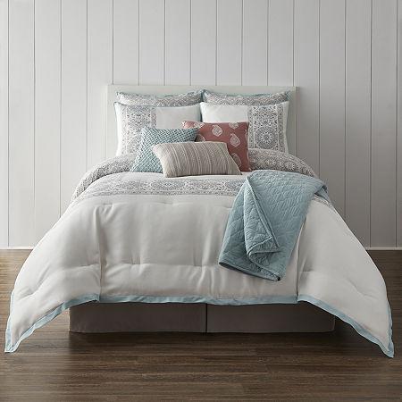 JCPenney Home Aurelia 10-pc. Reversible Comforter Set, One Size , Multiple Colors
