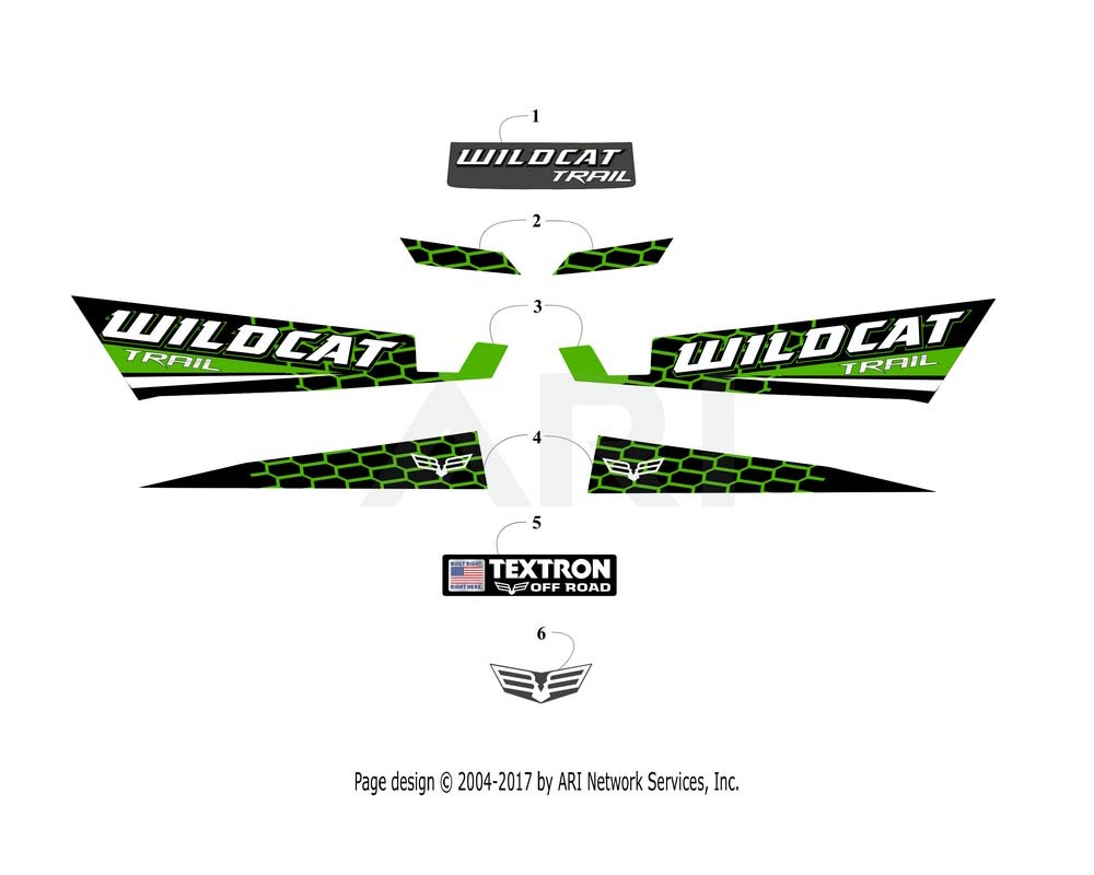 Arctic Cat OEM 6411-189 Decal Side Lwr Left Hand (Wc Trl Lime)