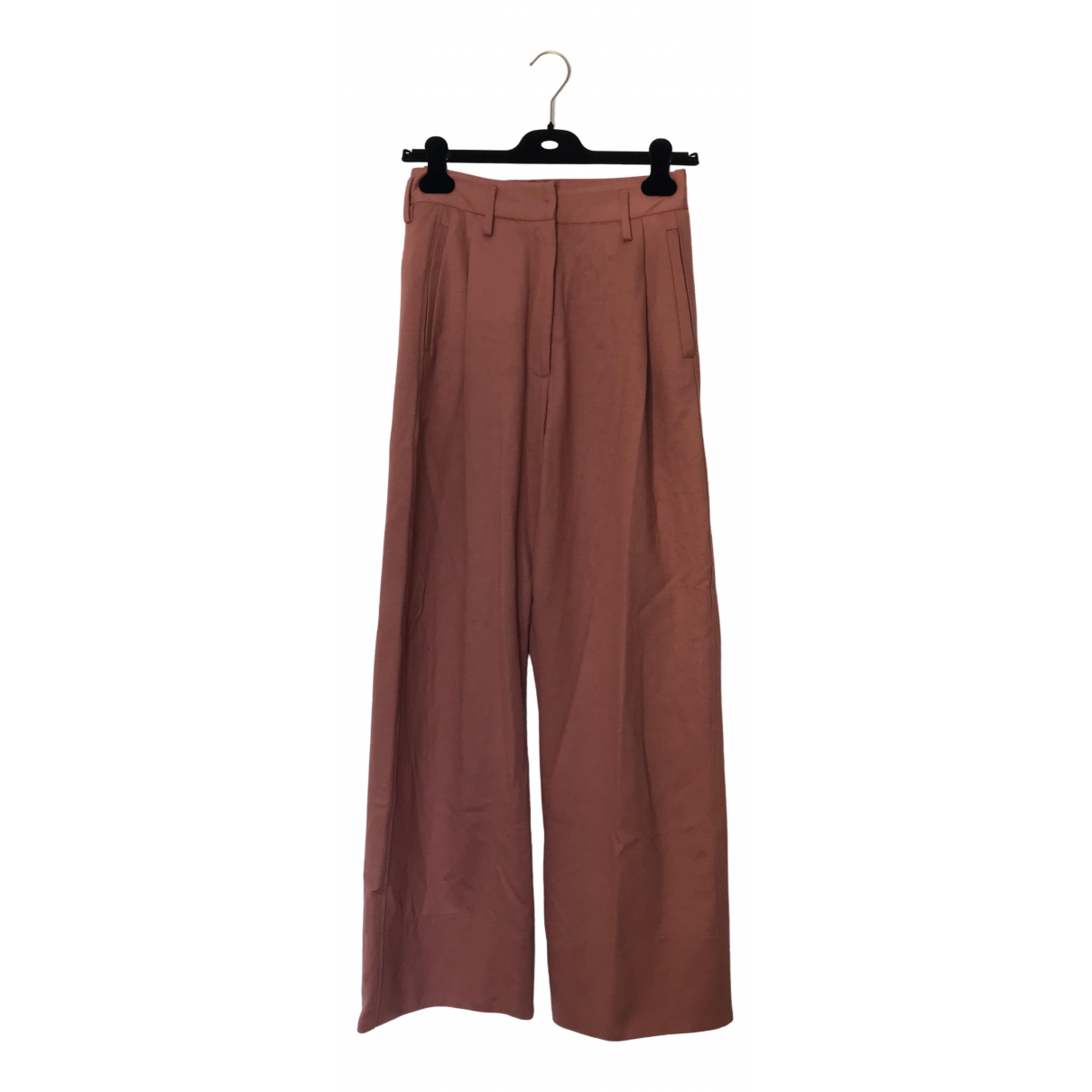 Forte_forte \N Pink Wool Trousers for Women 1 0-5