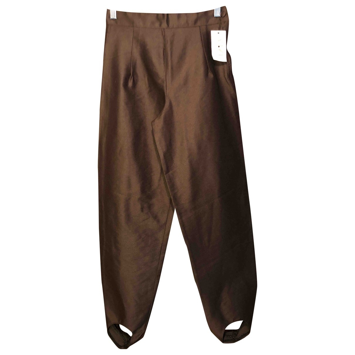 Non Signé / Unsigned \N Brown Trousers for Women 12 UK