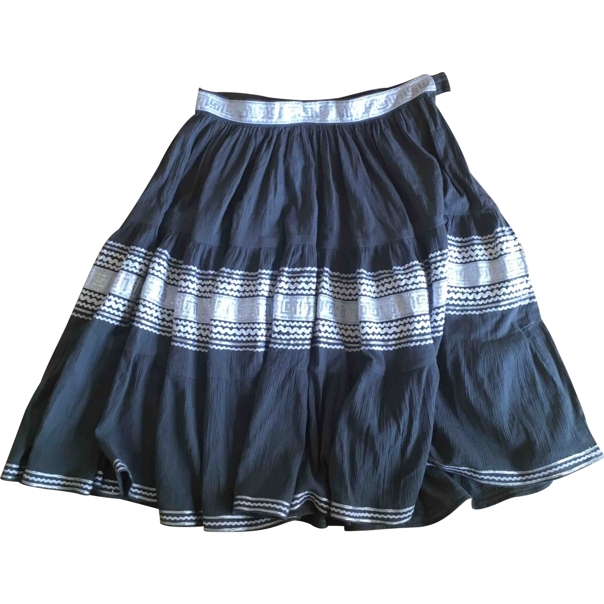 Non Signé / Unsigned \N Grey Cotton skirt for Women 40 FR