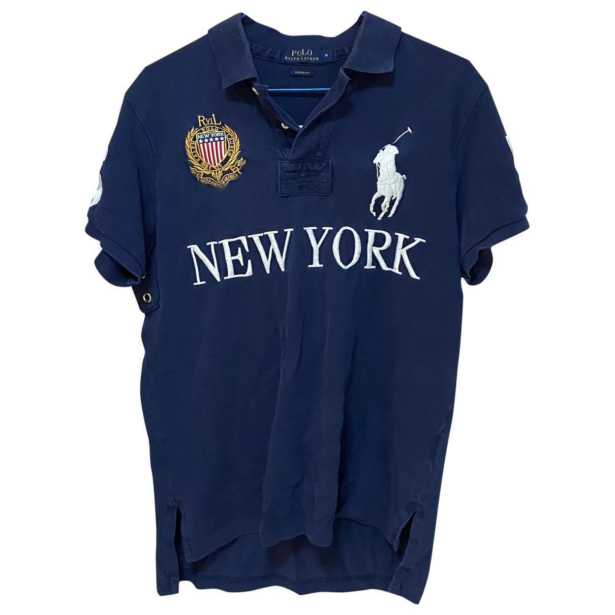 Polo Ralph Lauren Polo ajusté manches courtes Blue Cotton Polo shirts for Men M International