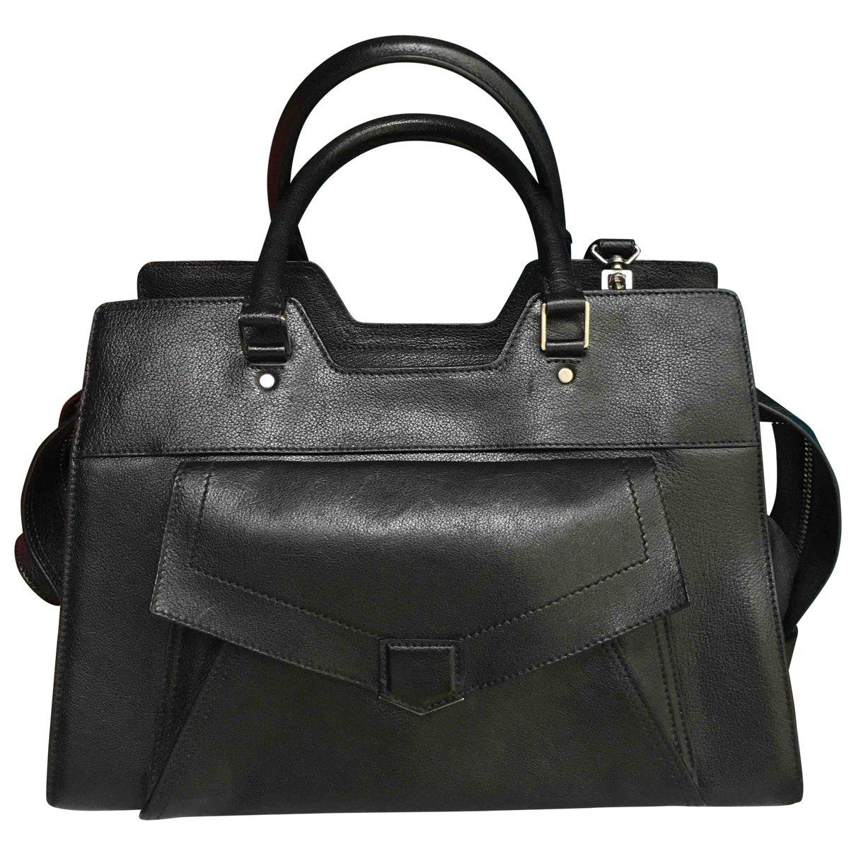 Proenza Schouler Frame Handtasche in  Schwarz Leder