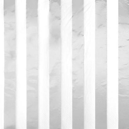 Serviettes de table Foil Stripes Silver - Foil Stamped 16Pcs