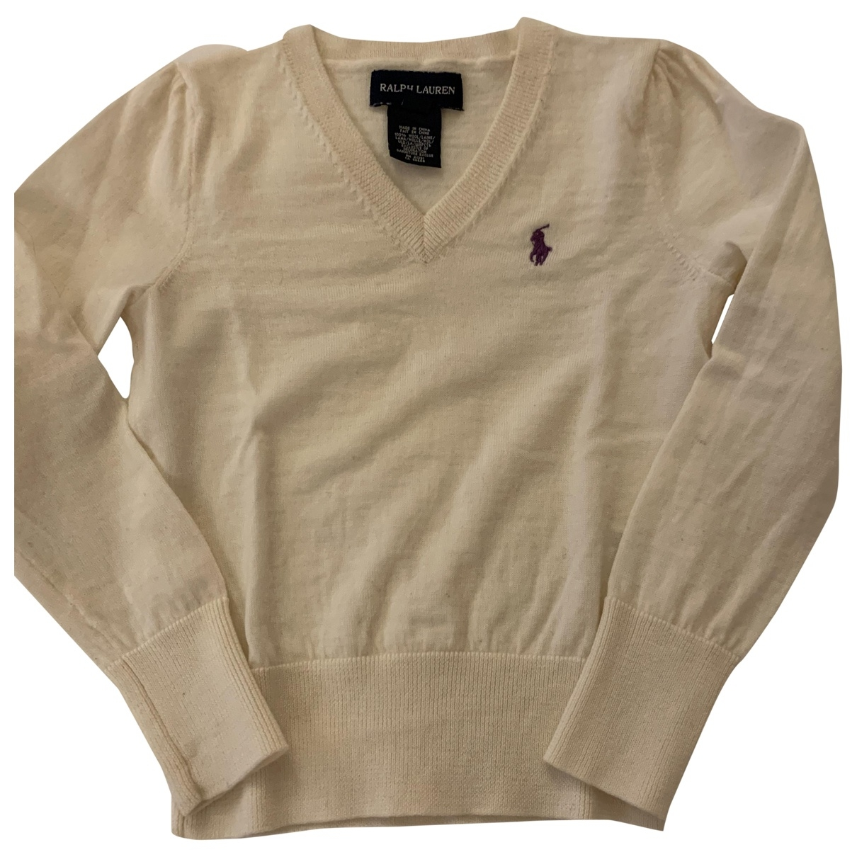 Ralph Lauren \N White Wool Knitwear for Kids 5 years - up to 108cm FR