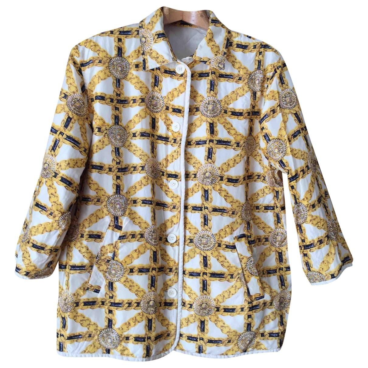 Non Signé / Unsigned Oversize Multicolour Silk jacket for Women L International