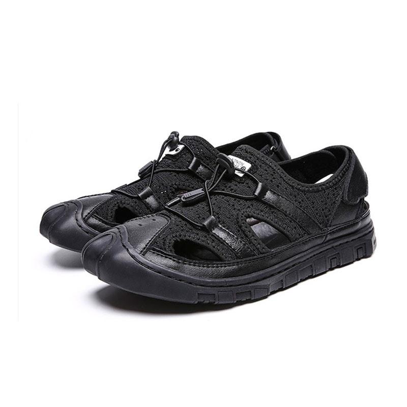 Ericdress Patchwork Velcro Round Toe Men's Sandals