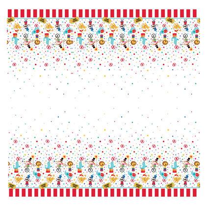 Circus Carnival Rectangular Plastic Table Cover, 54