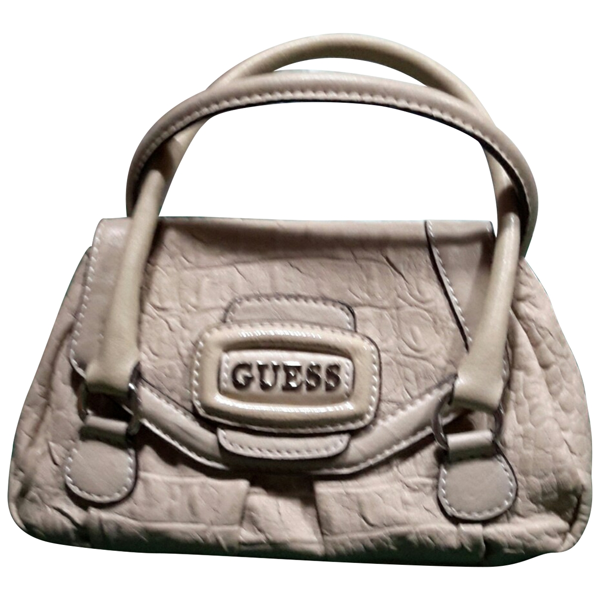 Guess \N Beige Leather bag & Pencil cases for Kids \N