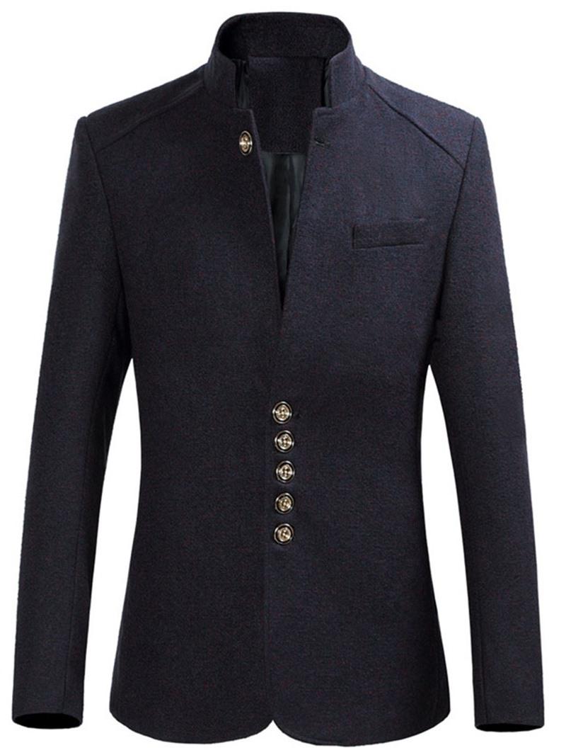 Ericdress Collar Standard Button Men's Slim Coat