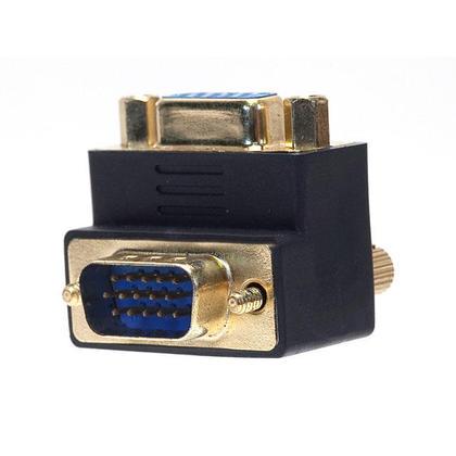 Coupleur VGA (femelle vers mâle) - 90 degrés (plaqué or) - Monoprice®