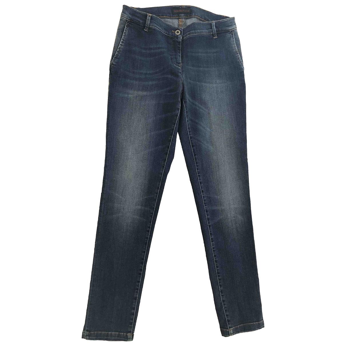 Trussardi Jeans \N Blue Cotton - elasthane Jeans for Women 40 FR
