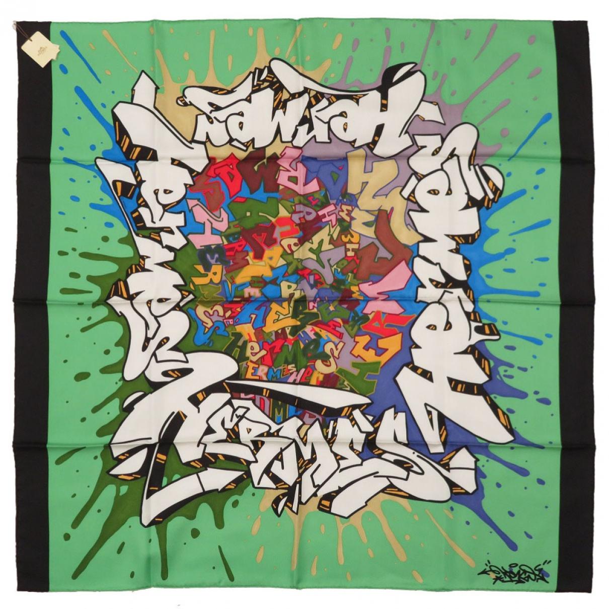 Hermès Carré 90 Green Silk Silk handkerchief for Women \N