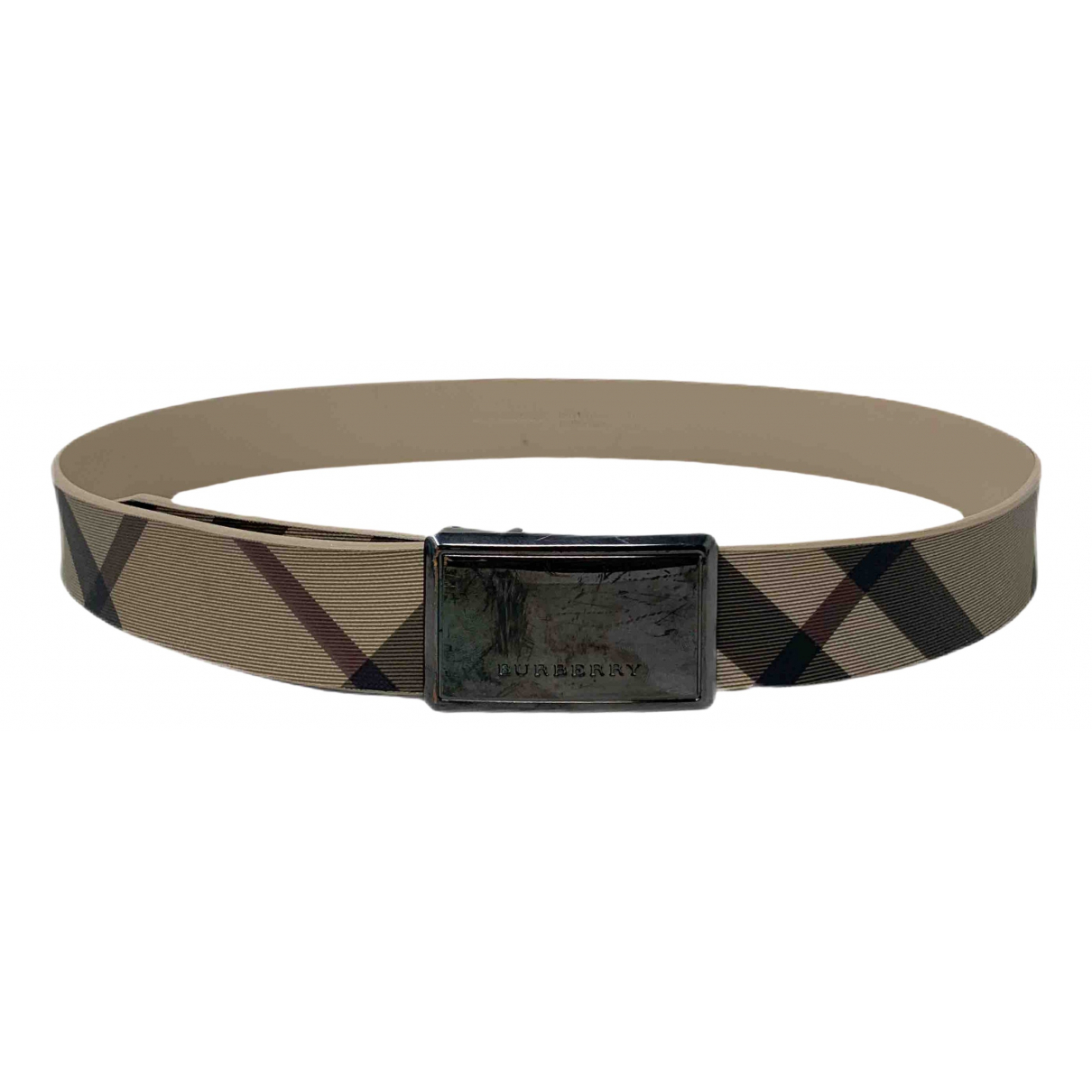 Burberry \N Beige Leather belt for Women 90 cm