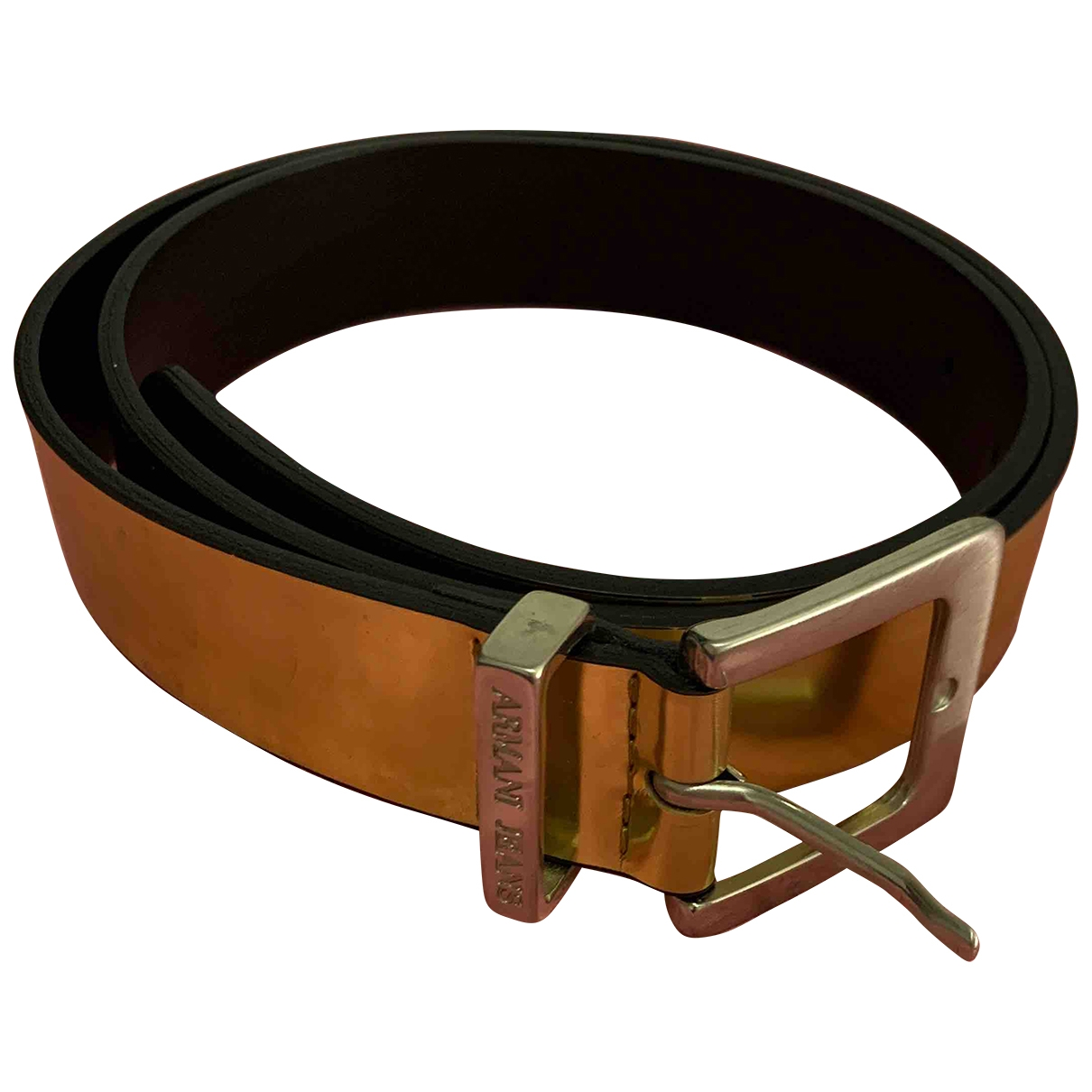 Armani Jeans \N Gold Leather belt for Women 90 cm