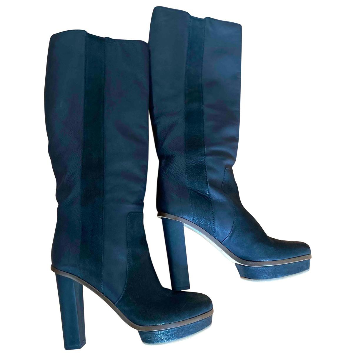 Boss Orange \N Black Leather Boots for Women 40 EU