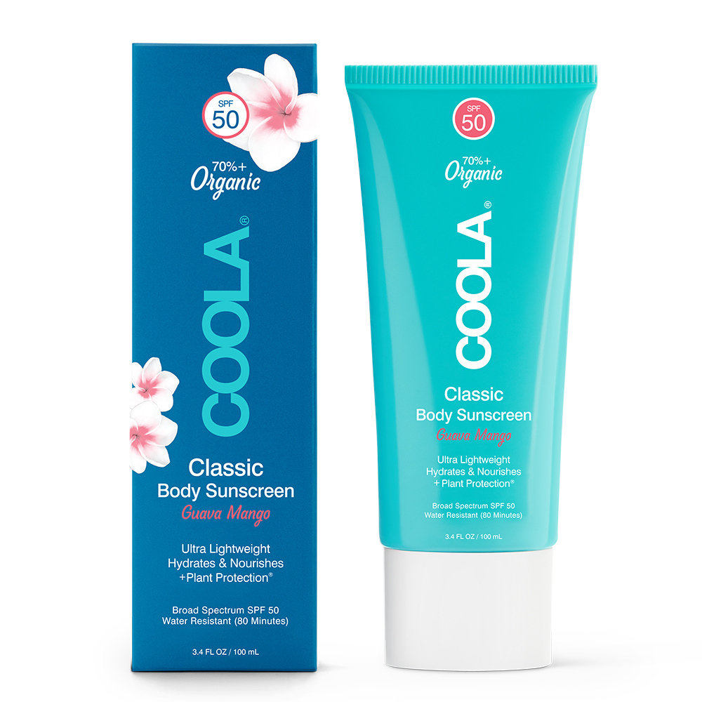 COOLA Classic Body Sunscreen Broad Spectrum SPF 50 [Travel Size] - Guava Mango (3.4 fl oz / 100 ml)