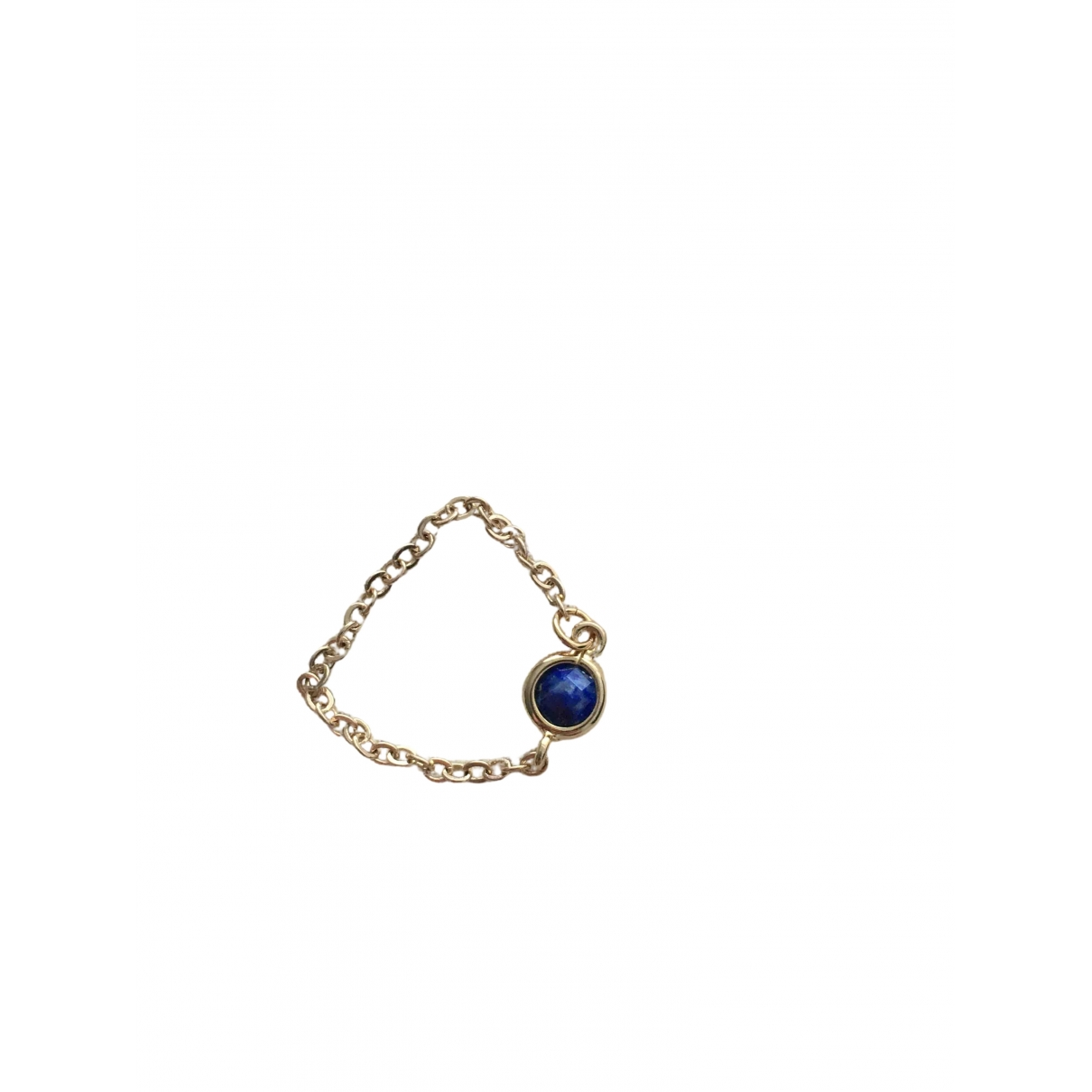 Non Signé / Unsigned Lapis lazuli Gold Gold plated ring for Women 54 EU