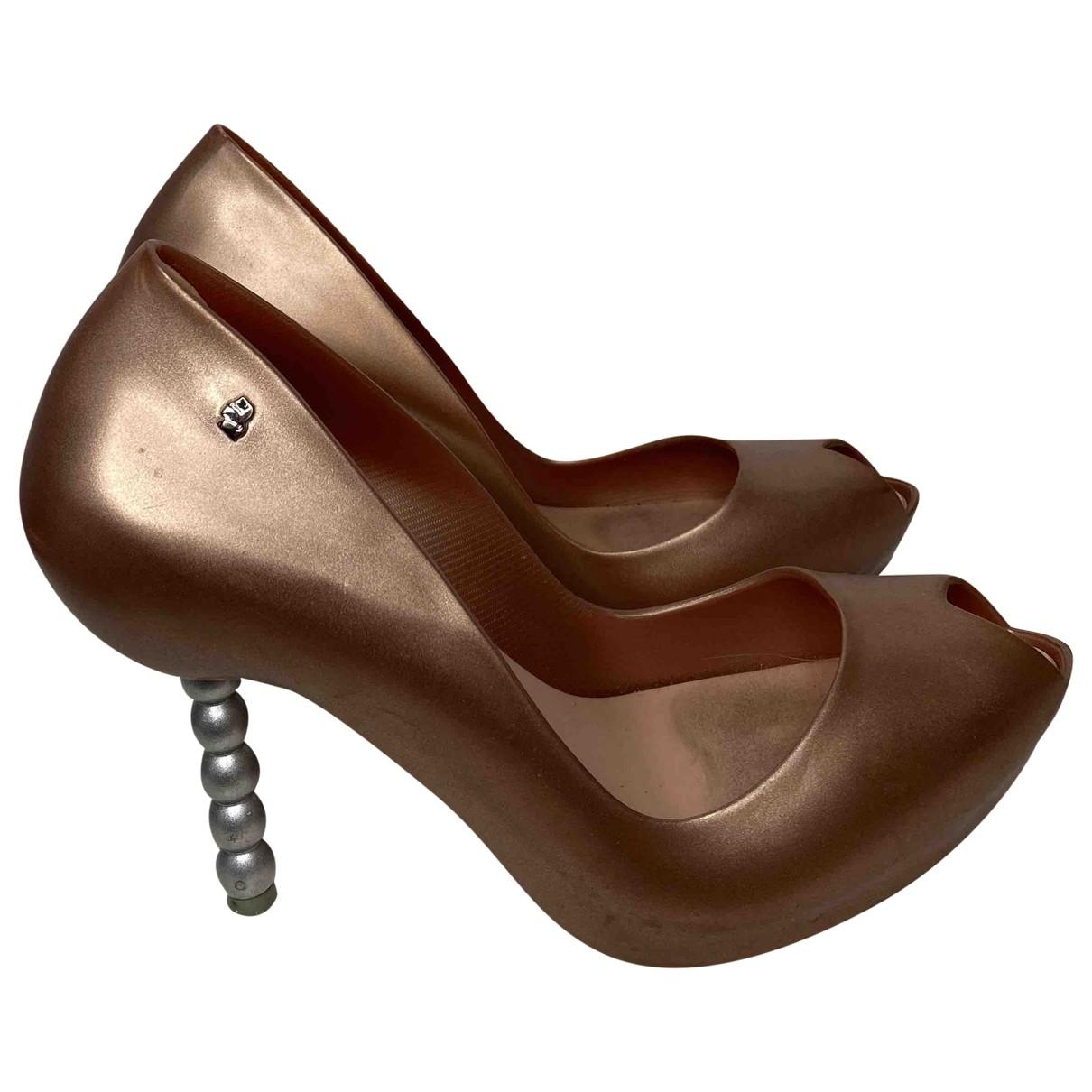 Melissa \N Beige Rubber Heels for Women 40 EU